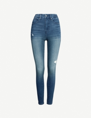 GOOD AMERICAN Good Waist high-rise faded skinny jeans
