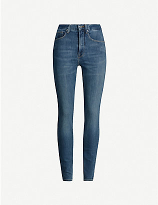 GOOD AMERICAN: Good Waist faded skinny high-rise jeans