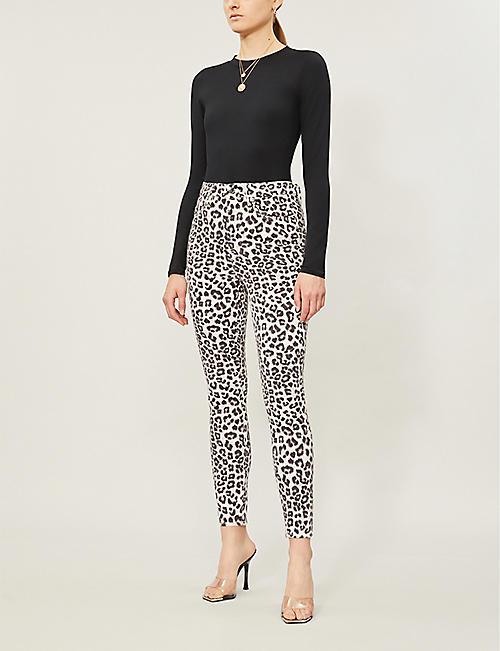d4617f51b5ae GOOD AMERICAN Good Waist leopard-print high-rise jeans. NEW SEASON