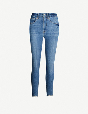 GOOD AMERICAN Bombshell cropped slim-fit high-rise jeans
