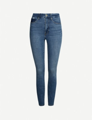 GOOD AMERICAN Good Waist slim-fit skinny high-rise jeans