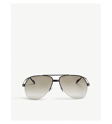 31099ff138b Tom Ford Wilder Tf644 Pilot-Frame Sunglasses In Black