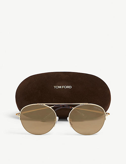 TOM FORD Finn aviator-frame sunglasses