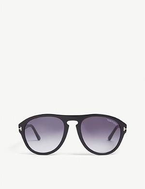 ff3cb6e801 TOM FORD - Clint TF537 round-frame sunglasses