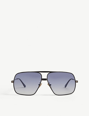 TOM FORD Frankie square-framed metal aviators