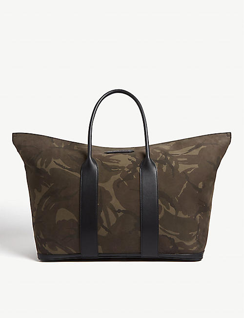 TOM FORD Camouflage canvas weekend bag