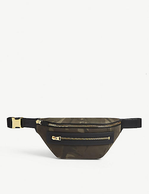 TOM FORD Camouflage nylon belt bag