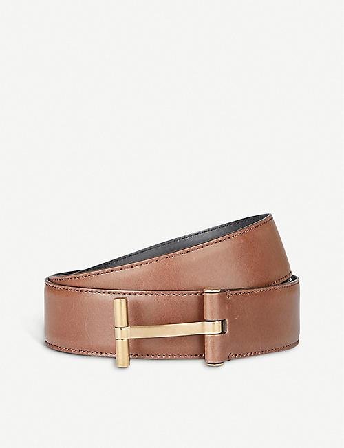 8ea81488320 TOM FORD - T-logo reversible leather belt