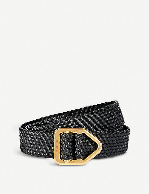 7b4022f5b8607 TOM FORD Braided leather belt. TOM FORD Braided leather belt. Quick Shop