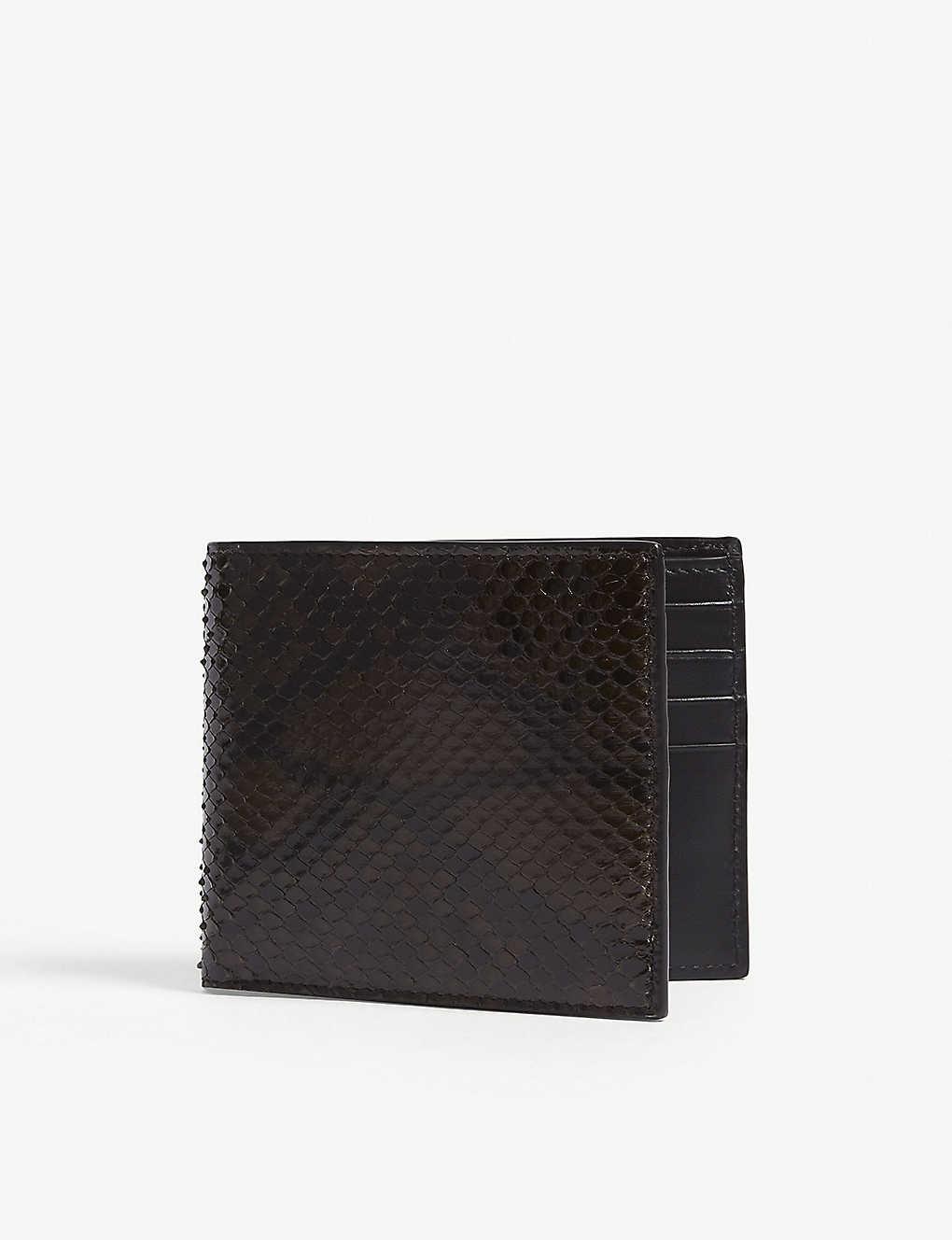 b636a3e07d3 TOM FORD - Python-skin billfold wallet