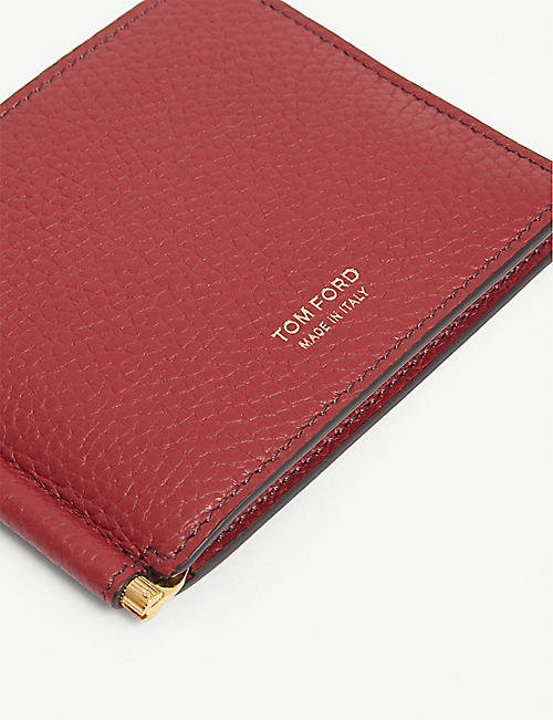TOM FORD Crazy grained leather money clip wallet