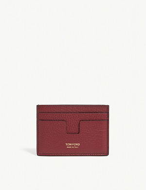 TOM FORD T-cut leather card holder