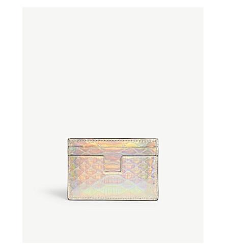 Tom Ford  Iridescent python card holder