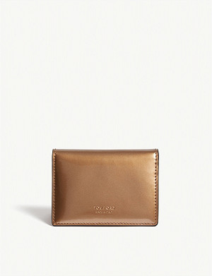 TOM FORD Mirror leather folding card holder