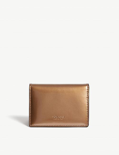 5cb22886253 TOM FORD Mirror leather folding card holder