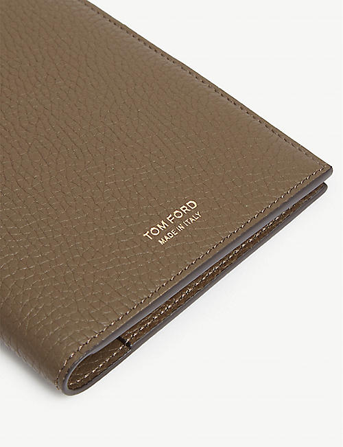 TOM FORD Pebbled leather passport holder