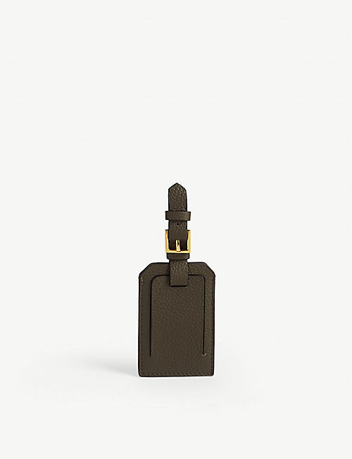 TOM FORD Leather luggage tag