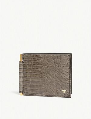 133b5e4a562 TOM FORD - Python-skin money clip wallet
