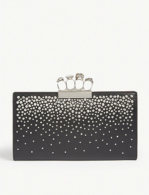 ALEXANDER MCQUEEN Leather clutch bag