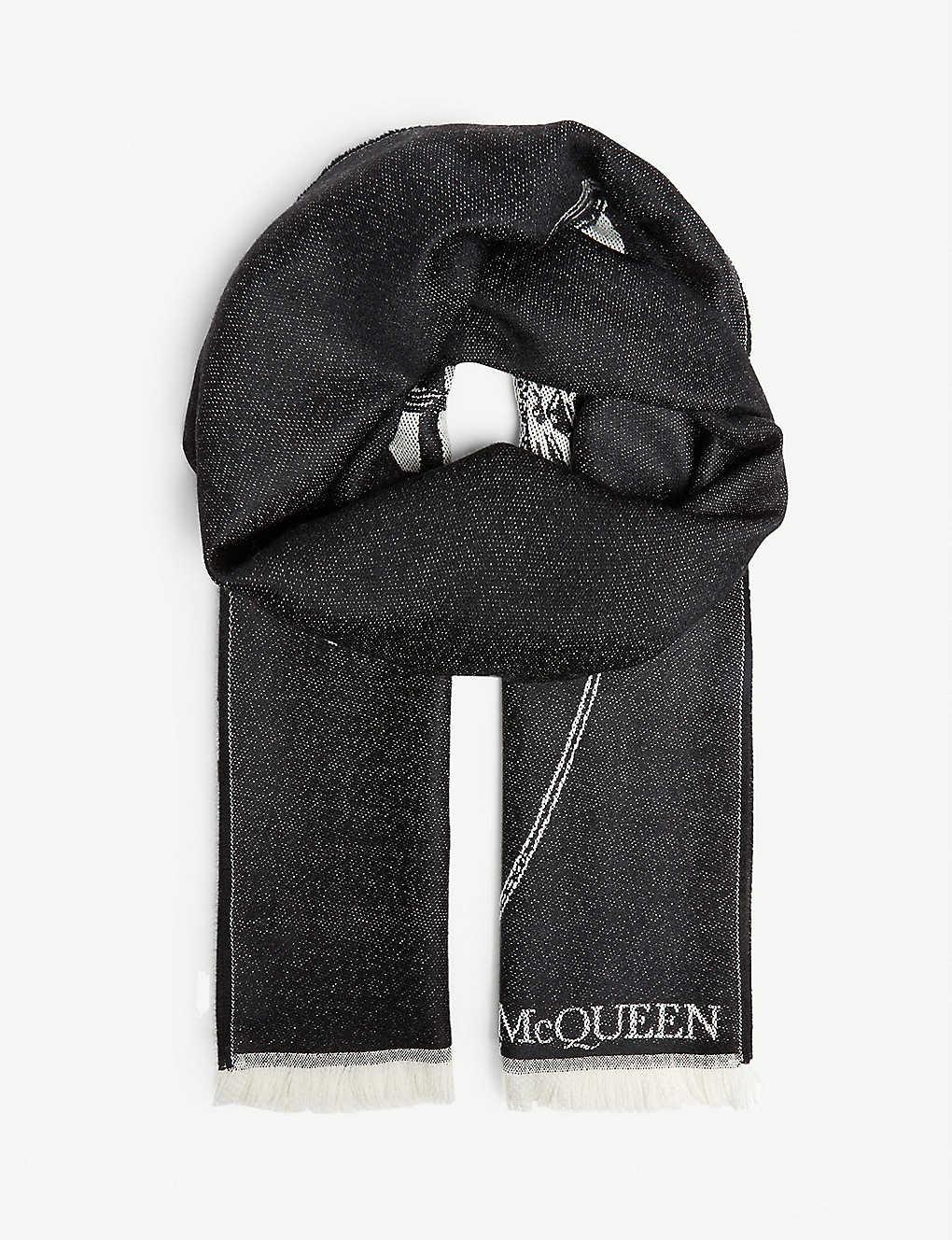 f07a872ac ALEXANDER MCQUEEN - Skull print wool scarf | Selfridges.com