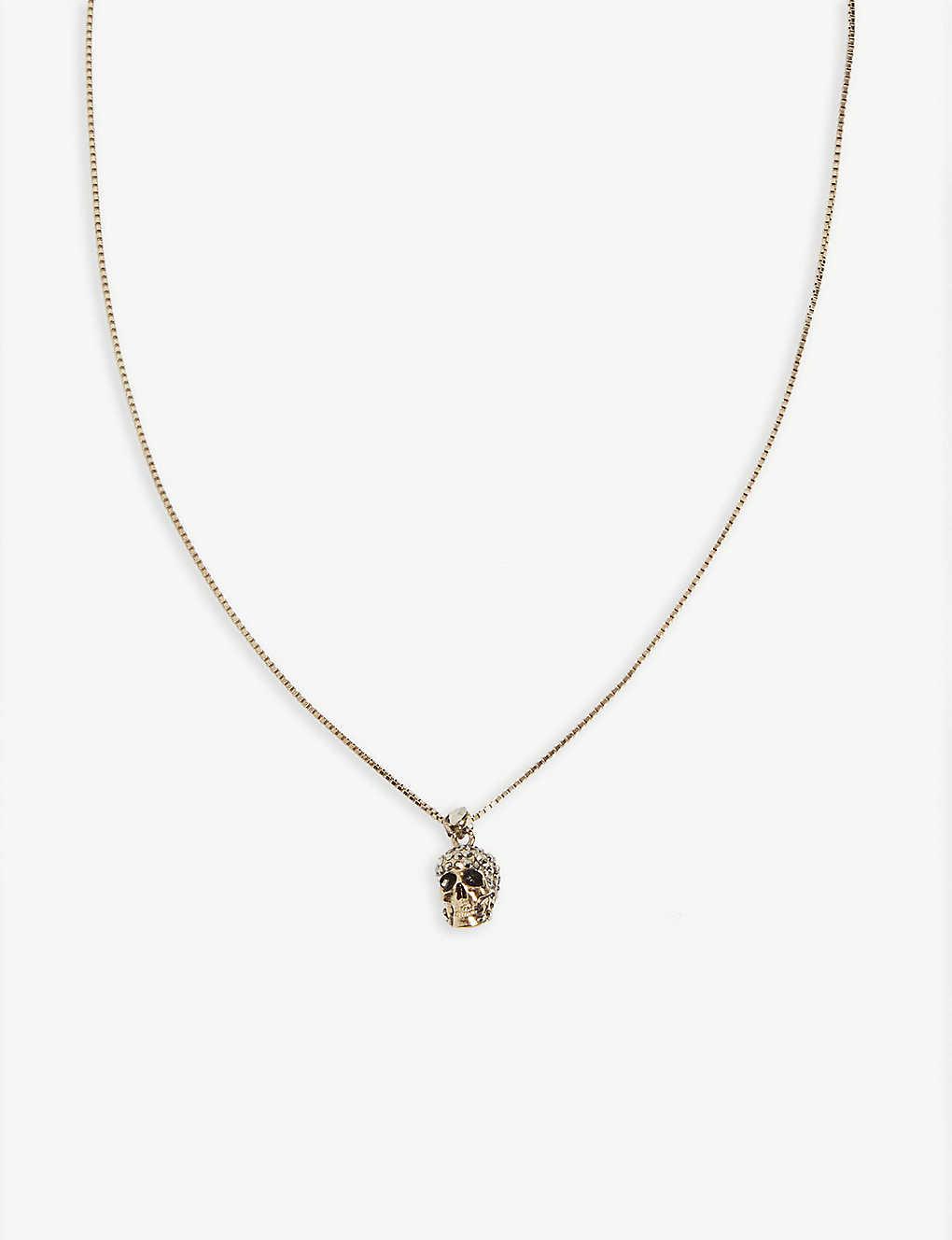 4e9a069db ALEXANDER MCQUEEN - Skull pendant chain necklace   Selfridges.com