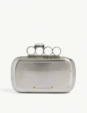 ALEXANDER MCQUEEN Metal four ring clutch