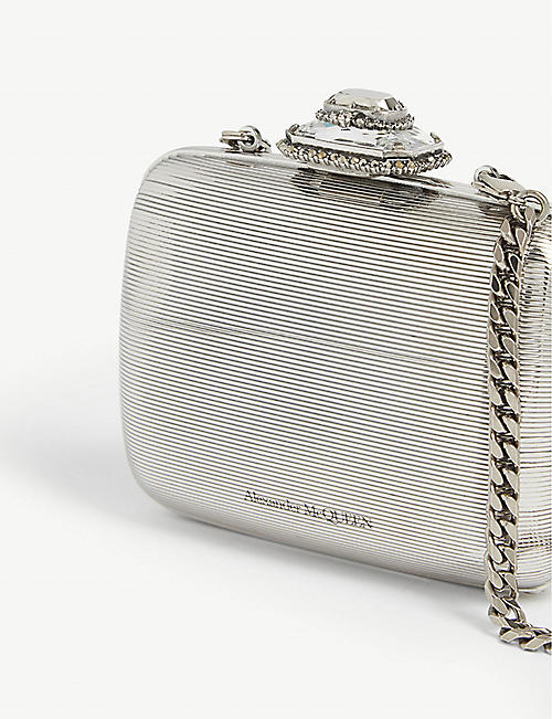 ALEXANDER MCQUEEN Mini metal clutch