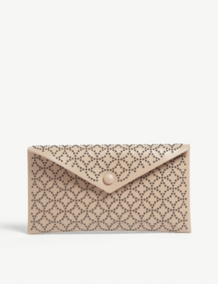 AZZEDINE ALAIA Louise small leather envelope clutch