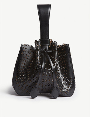 AZZEDINE ALAIA Leather top-handle bag