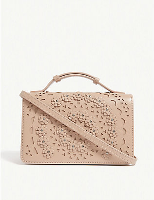 AZZEDINE ALAIA: Franca leather shoulder bag