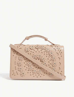 AZZEDINE ALAIA Franca leather shoulder bag