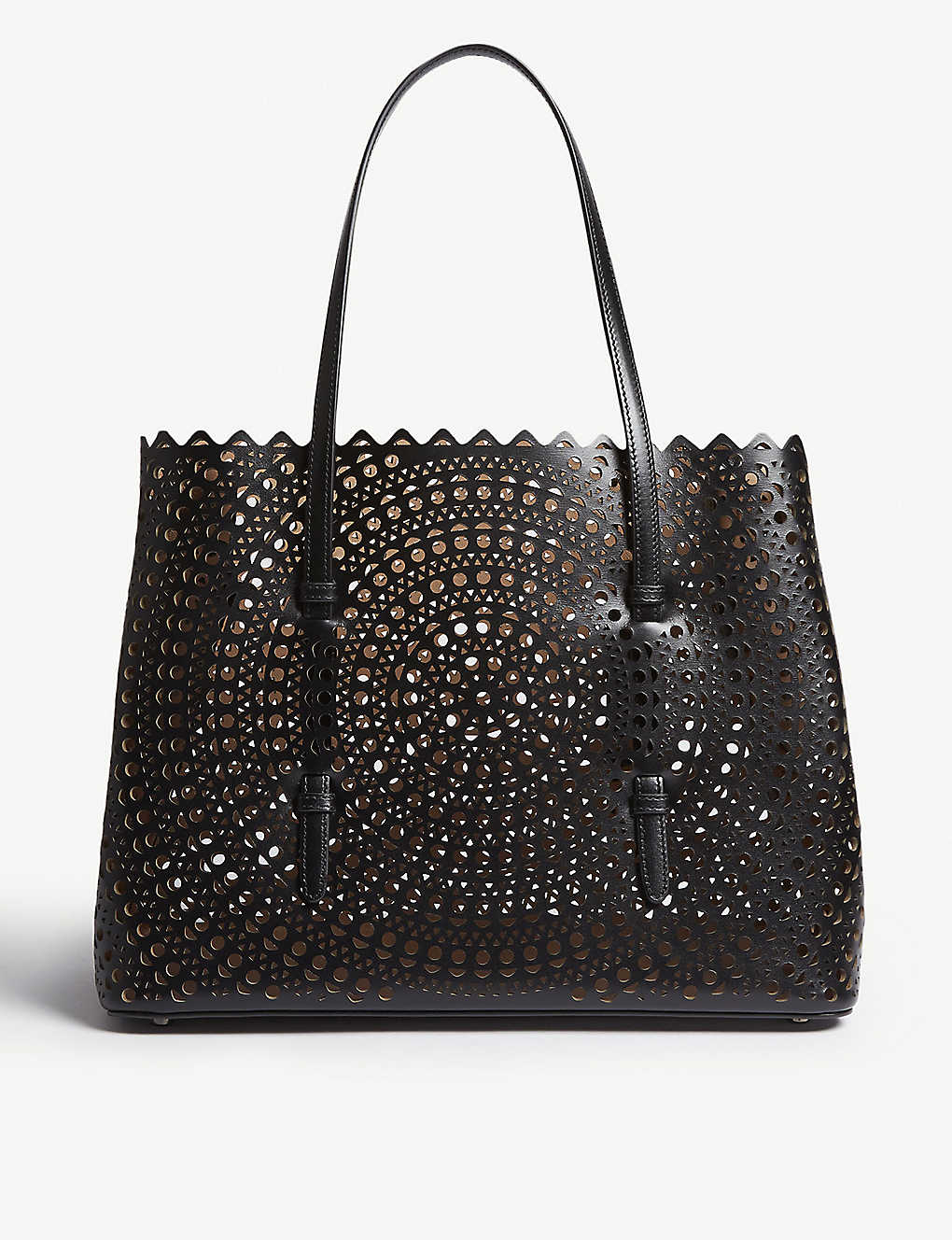 AZZEDINE ALAIA: Mina small laser-cut leather tote bag