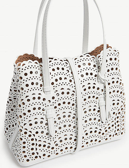 AZZEDINE ALAIA Mina small leather tote