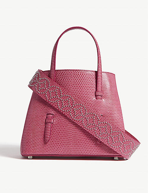 AZZEDINE ALAIA Strap lizard leather tote