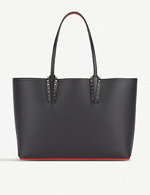 CHRISTIAN LOUBOUTIN Cabata stud-embellished small leather tote
