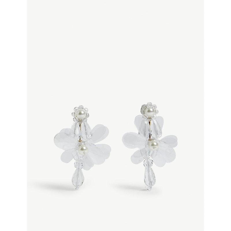 Simone Rocha Accessories FLOWER DROP EARRINGS