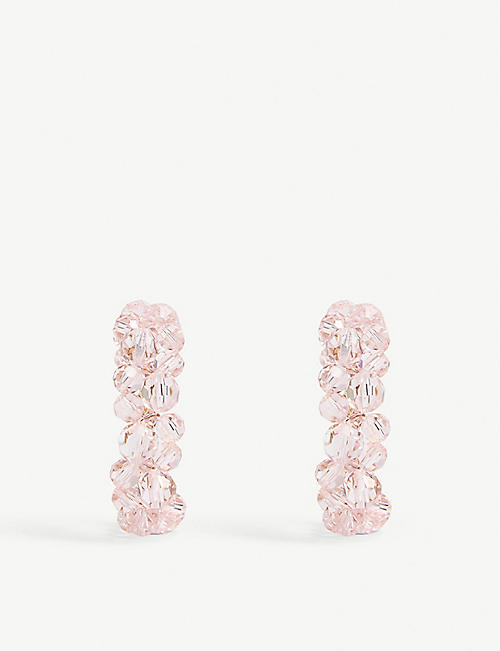 SIMONE ROCHA Wiggle crystal hoop earrings