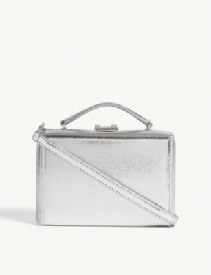 MARK CROSS Grace mini metallic leather box bag