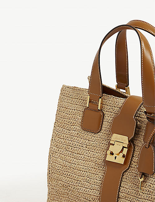 MARK CROSS Riviera medium raffia tote