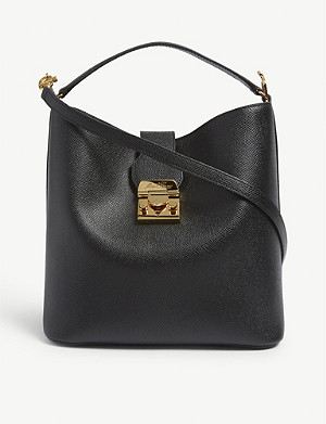 MARK CROSS Murphy large leather bucket bag