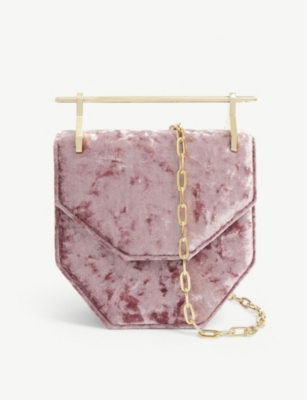 M2MALLETIER Mini Amor/Fati velvet shoulder bag