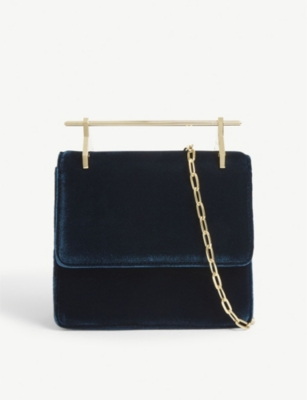 M2MALLETIER Mini Collectionneuse velvet shoulder bag