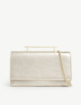 M2MALLETIER Alexia metallic leather shoulder bag