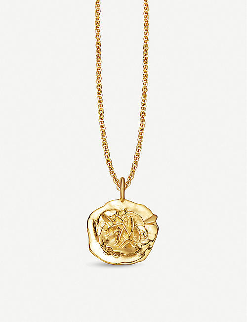 MISSOMA LTD Geo Small Desert Rose 18ct gold-plated necklace