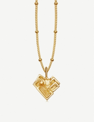 MISSOMA LTD Geo Bismuth 18ct gold-plated necklace
