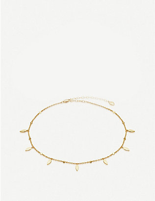 MISSOMA: Gold Leaf 18ct gold-plated vermeil silver choker necklace
