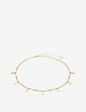 MISSOMA Gold Leaf 18ct gold-plated vermeil silver choker necklace