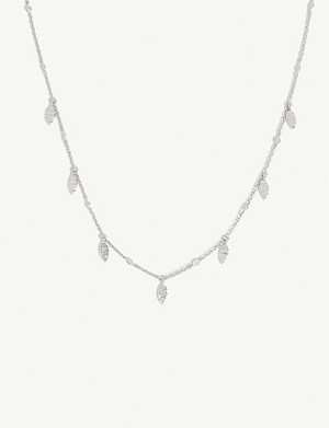 MISSOMA Sterling silver Leaf choker necklace
