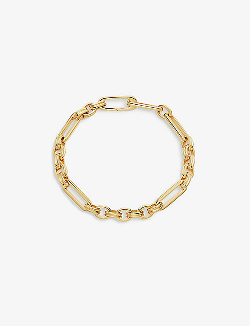 MISSOMA: Axiom 18ct gold-plated vermeil silver bracelet