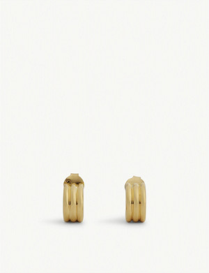 MISSOMA Helical Acien 18ct gold vermeil hoop earrings